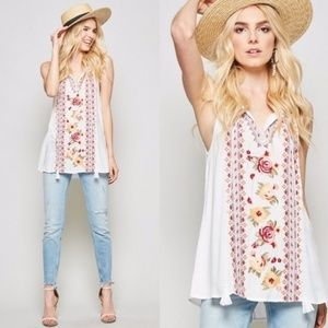🌻🥀LAST ONE🌻🥀WILDFLOWERS Embroidered Boho T…